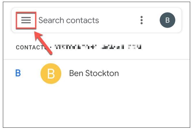 حفظ جهات الاتصال على Gmail و استردادها للاندرويد 1