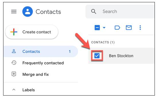 حفظ جهات الاتصال على Gmail و استردادها للاندرويد