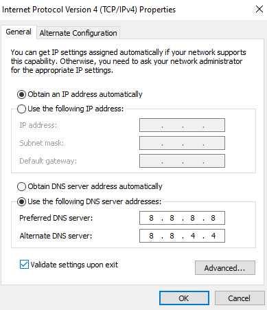 خطوات حل مشكلة DNS_PROBE_FINISHED_BAD_CONFIG على متصفح كروم 3