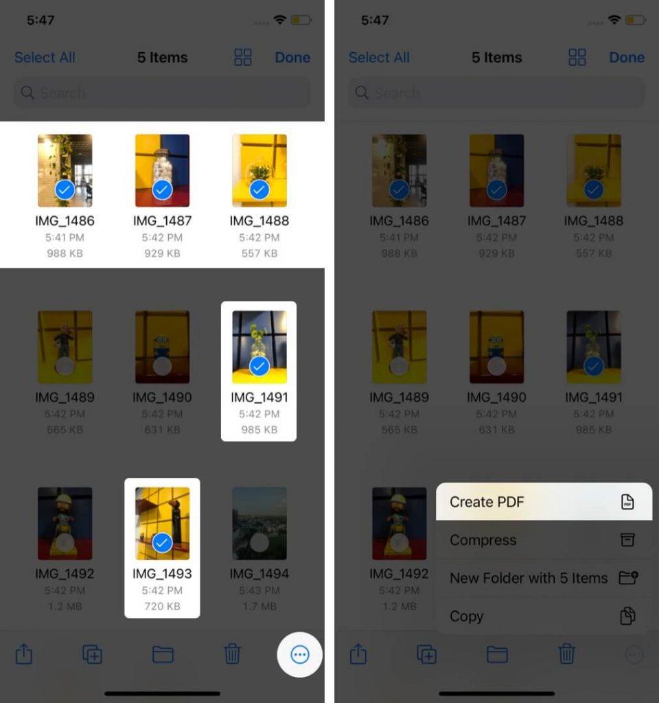 كيفية تحويل صورة إلى ملف PDF على أيفون 5