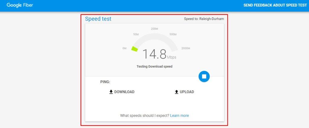 كيفية قياس سرعة النت لشركة we 2