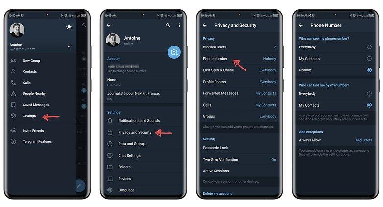 أهم 5 طرق لتحسين خصوصيتك على تليجرام 1