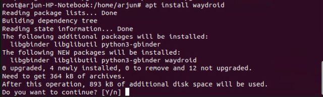 كيف يمكنك تشغيل تطبيقات الأندرويد على لينكس بدون محاكى 8