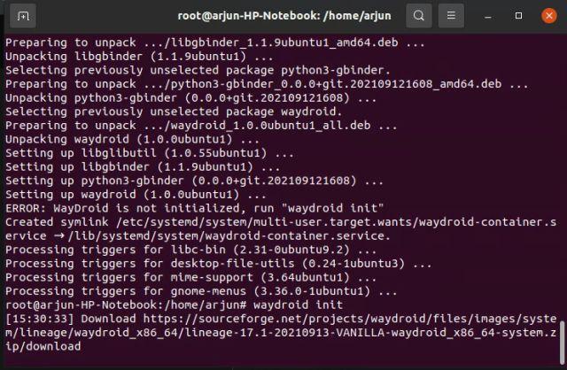 كيف يمكنك تشغيل تطبيقات الأندرويد على لينكس بدون محاكى 9